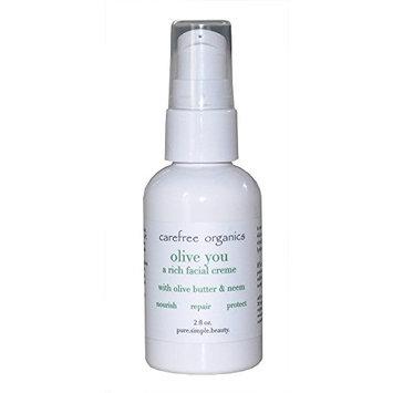 Carefree Organics Olive You, a rich organic facial creme, 2 fl oz