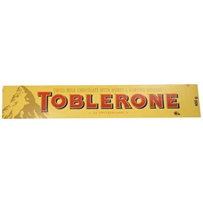 Toblerone Swiss Milk Chocolate with Honey and Almond Nougat, 14.1-Ounce Bars (Pack of 4)