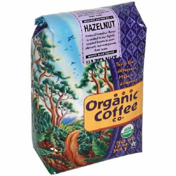 The Organic Coffee Co. Whole Bean, Hazelnut Coffee, 12 Ounce (Pack of 3)
