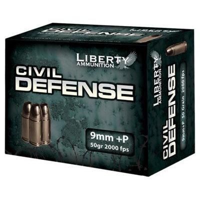 Liberty Ammunition Civil Defense Handgun Ammo Per 20