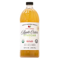 Apple Cider Vinegar 32oz - Unfiltered, USDA Organic, Kosher, & Raw with The Mother
