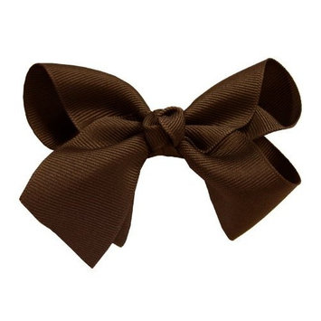 Black Large Girl Bow Hair Clip - Romantic Large Bow Hair Clip In Elegant Black