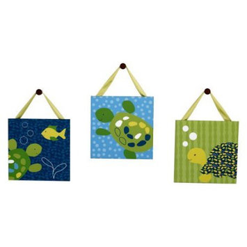 CoCaLo Baby Turtle Reef 3-pk. Canvas Wall Art