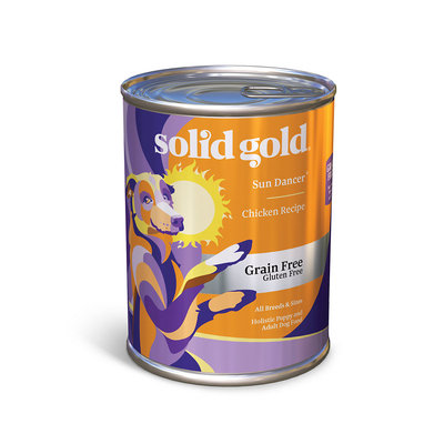 Solid Gold Sun Dancer 95% Chicken Grain Free Canned Dog Food, Case of 12, 13.2 oz.