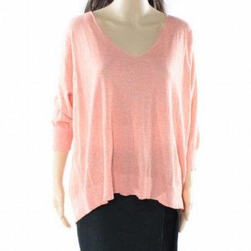 Cotton Emporium NEW Orange Women Size Large L V-Neck Tulip Back Knit Top [clothing_size_type: clothing_size_type-regular]