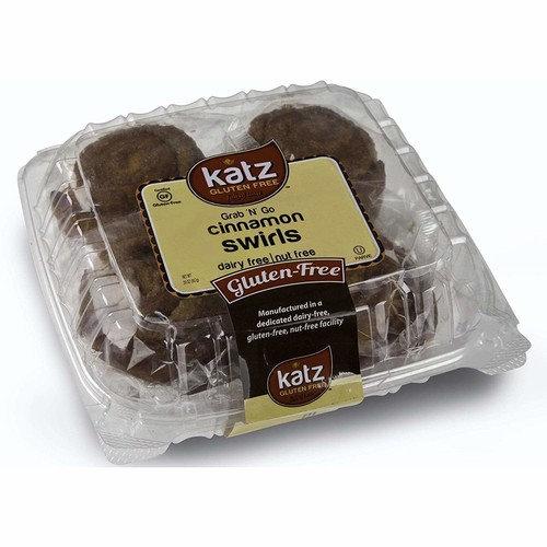 Katz Gluten Free Individually Wrapped GRAB N' GO Cinnamon Swirls | Dairy, Nut and Gluten Free | Kosher (1 Pack of 8 Swirls, 20 Ounce)