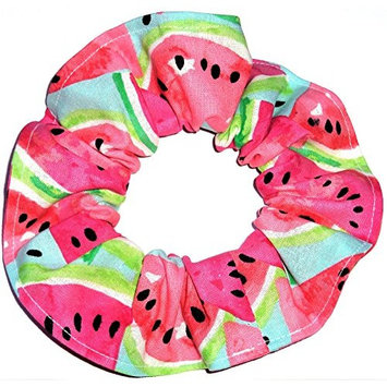 Watermelon Slices Hair Scrunchie Handmade by Scrunchies by Sherry Ponytail