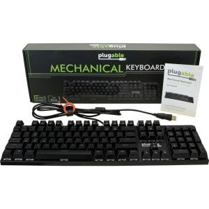 Plugable Technologies Plugable (USB-MECH104BW) Keyboard & Keypad