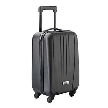 Cabin Max Black ABS spinner 4 wheel hard case- Carry on 18