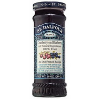 St. Dalfour Cranberry & Blueberry Fruit Spread, 10 Ounce (Pack of 6)