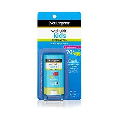 Neutrogena Wet Skin Kids Sunscreen Stick, SPF 70 0.47 oz.(pack of 4)