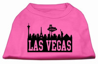 Mirage Pet Products 5168 MDBPK Las Vegas Skyline Screen Print Shirt Bright Pink Med 12