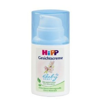 HiPP Baby Gentle Face Cream 50ml / 1.69 oz. with organic almond oil