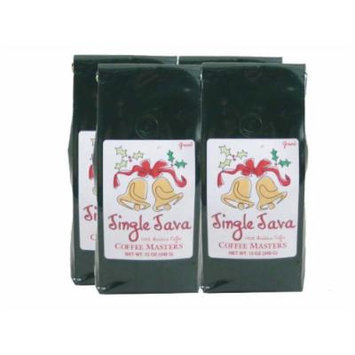 Jingle Java Coffee, Ground (Case of Four 12 ounce Valve Bags)
