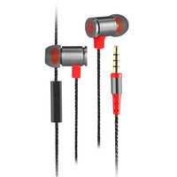 Cliptec Red BULLET Gaming Stereo 3.5mm Wired In-Ear Headphones Noise Isolation In-line Control w/Mic