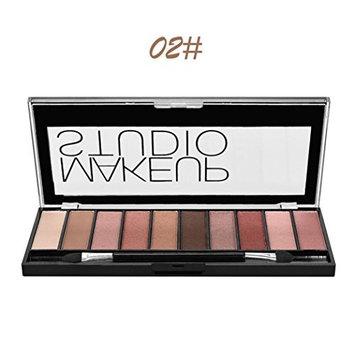 Eyeshadow Palette Matte, Makeupstore Best Pro Eyeshadow Palette Matte, 10 Color Highly Pigmented Makeup Eye Shadow Colors - Professional Vegan Nudes Warm Natural Bronze Neutral Smoky Shades (B)