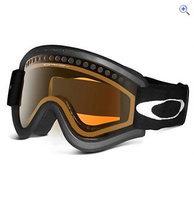 Oakley E-Frame Goggles (Black/Persimmon) - Colour: JET BLACK