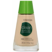 CoverGirl Clean Sensitive Skin Liquid Makeup, Classic Ivory (W) 210, 1.0-Ounce Bottles (Pack of 2)