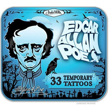 Edgar Allen Poe Temporary Tattoos by Archie McPhee