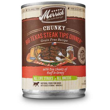Merrick Pet Treats Merrick Pet Food MP28300 Chunky - Big Texas Steak Tips Dinner 12 By 12.7 Oz.