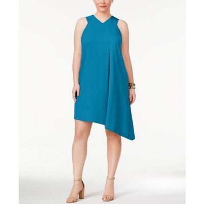 Rachel Rachel Roy Trendy Plus Size Pocketed Asymmetrical Dress