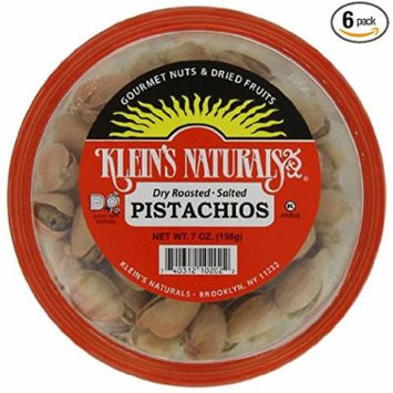 Klein's Naturals Pistachios, Salted, In Shell, (Pack of 6)