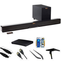 Klipsch Reference 2-Way Soundbar w/ Wireless 6.5 Subwoofer R4B w/ Blu-ray Player Bundle
