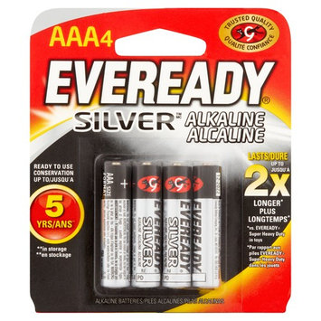 Eveready Silver Alkaline AAA Batteries, 4 Pack