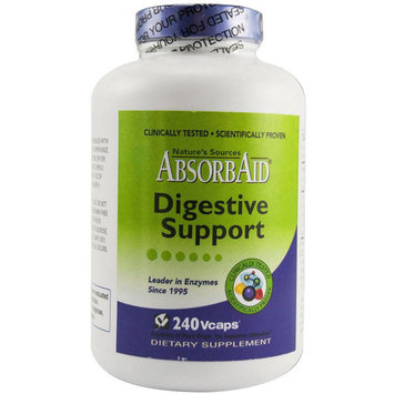 Absorbaid Digestion and Stomach Distress Vegetable Capsules, 240 CT