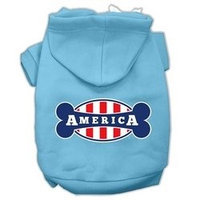 Mirage Pet Products Bonely in America Screen Print Pet Hoodies Baby Blue Size XXL (18)