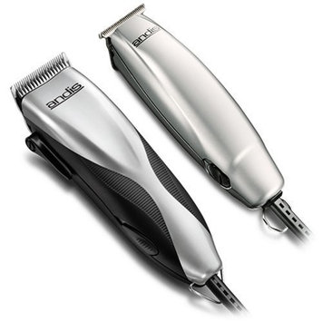 Andis LIGHTWEIGHT 27 PIECE HairCut Kit with Men's Hair Clippers and T-Line Hair Trimmer, BONUS FREE OldSpice Body Spray Included