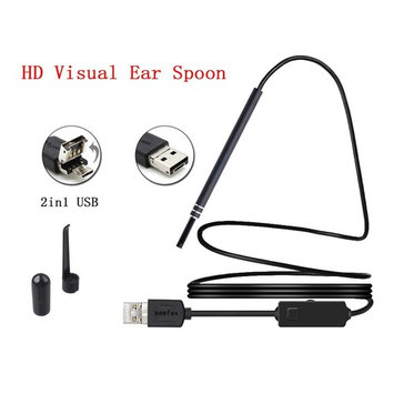 USB Ear Cleaning Endoscope Visual Earpick with Adjustable LED Light Ear Camera Scope Earwax Removal Kit
