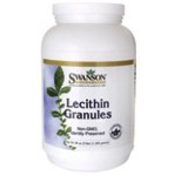 Swanson Lecithin Granules 100% Pure Non-GMO Lecithin Brain Heart Nervous System Support Supplement 48 Ounce (3 lbs) (1,362 g) Granules