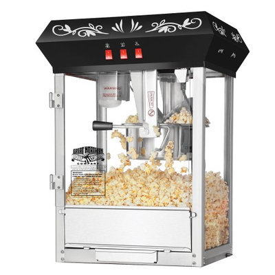 Great Northern Popcorn Company Great Northern Popcorn Black All Star GNP-850 Classic Style Popcorn Top, 8 oz