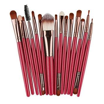 RNTOP 15 pcs/Sets Eye Shadow Foundation Eyebrow Lip Brush Makeup Brushes Tool