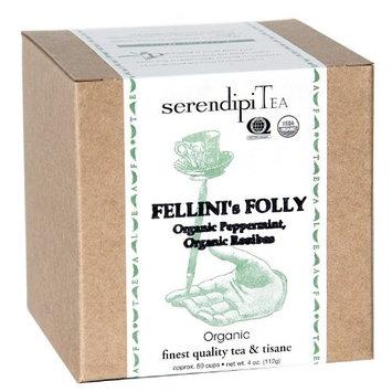 SerendipiTea Fellini's Folly, Organic Mint & Organic Rooibos Tea & Tisane, 4-Ounce Boxes (Pack of 2)
