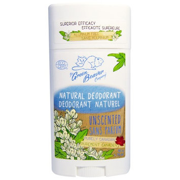 Green Beaver, Natural Deodorant, Unscented, 1.76 oz (50 g) [Scent : Unscented]