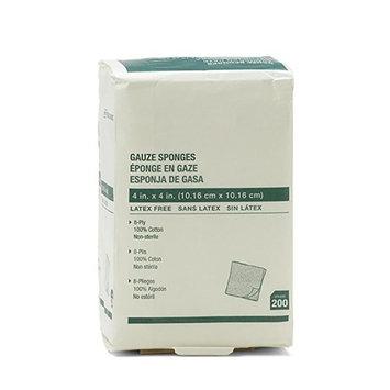 Global Woven Non-Sterile 4x4 8-ply Gauze Sponges (200)