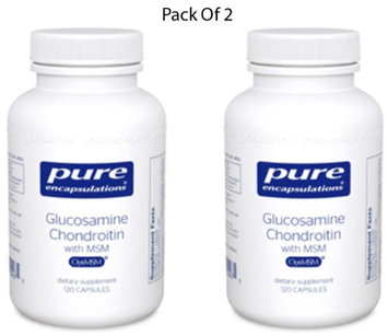 Pure Encapsulations Glucosamine Chondroitin w MSM 120 vcaps