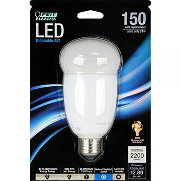 Feit Electric 9961624 LED A21 24W & 150W Medium Dimmable 5000K