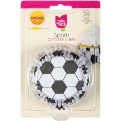 Signature Brands Cake Mate Sports Cupcake Liners, Standard Size, 24 count