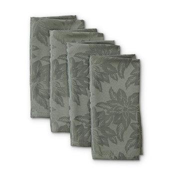 Trim A Home® 4-Pack Damask Christmas Napkins - Poinsettias