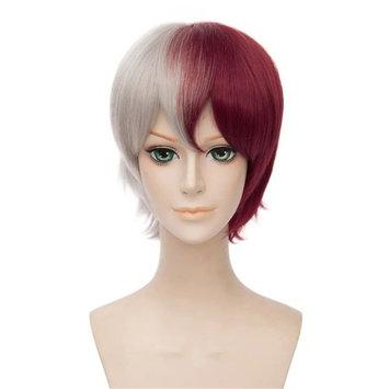 Kadiya Character Play Cosplay Wigs Short Red Silver Grey Mixed Boy Anime Hair