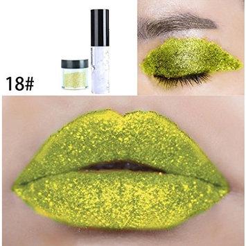 Dragon Ranee Shimmer Glitter Lip Gloss Powder Palette Glitter Lipstick Cosmetic Eye Shadow by DMZing (LE-08)