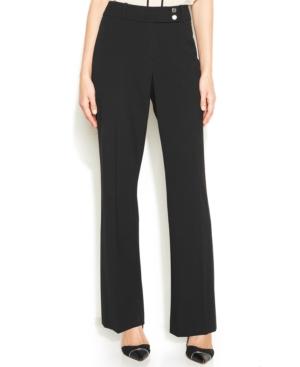 Calvin Klein Curvy-Fit Bootcut-Leg Trousers