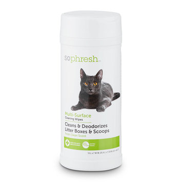 So Phresh Litter Box Wipes, 40 count.