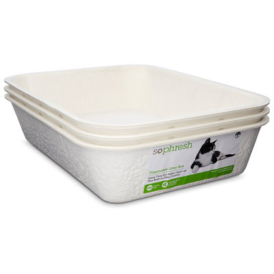 So Phresh Disposable Litter Boxes, Pack of 3 litter boxes