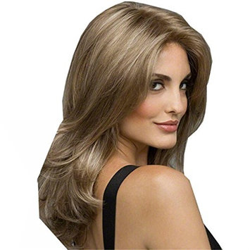 YX Natural Long Curly Wigs For Women As Real Hair Synthetic Heat Resistant Wig