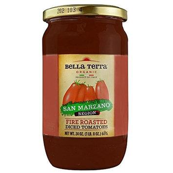 Bella Terra Organic Diced Tomatoes Fire Roasted -- 24 oz