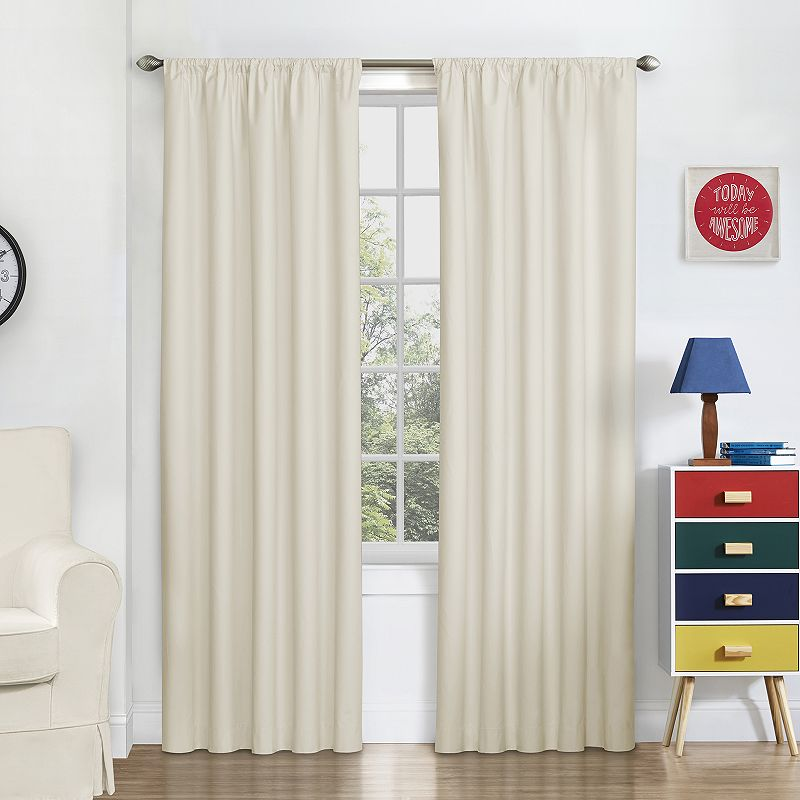 Eclipse Blackout Macklin Curtain Panel (White)